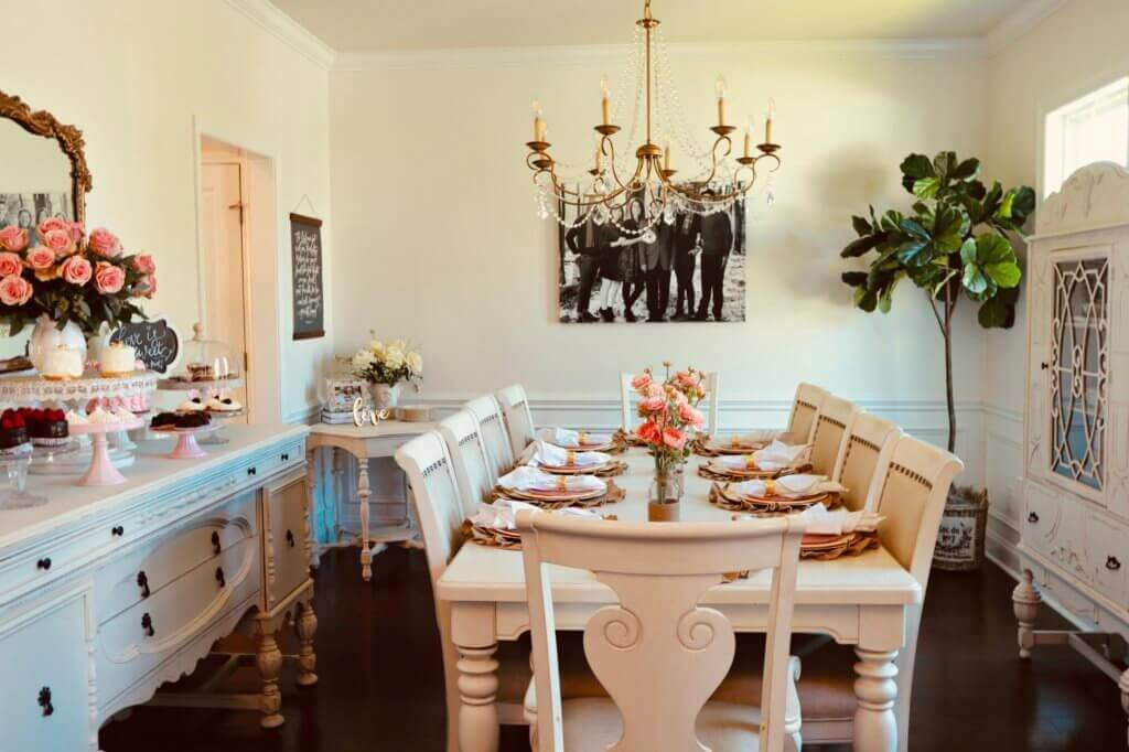 How To Decorate A Dining Room In 7 Steps Buffie S Home Decorating