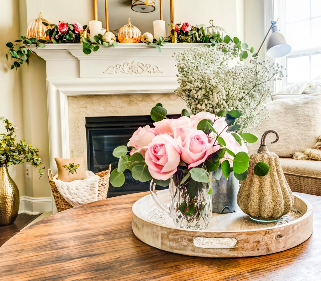 Fall Decorating Ideas Using Pink Gold Buffie S Home