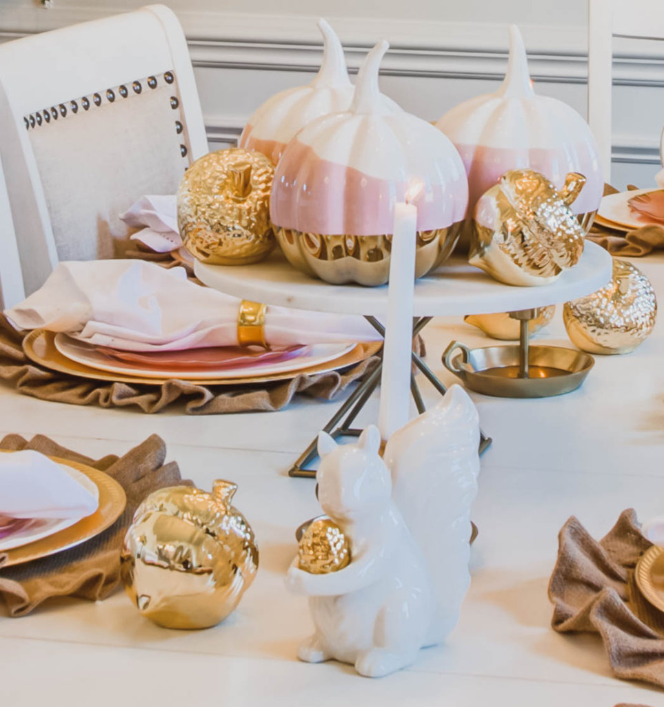 Fall Decorating Ideas Using Pink Gold Buffie S Home Decorating