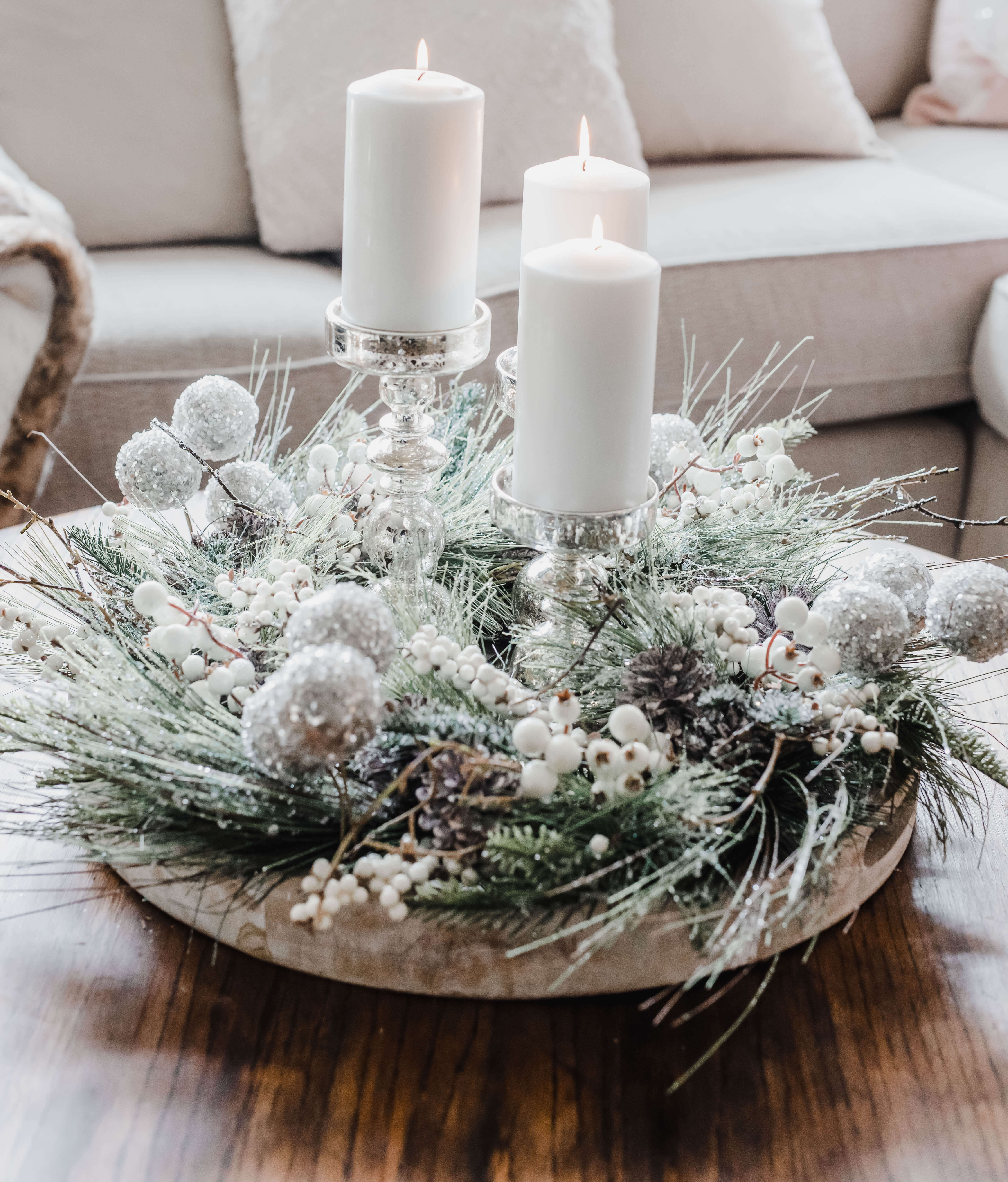 How To Decorate A Coffee Table For Christmas Buffie S Home